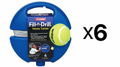 Tourna Fill n Drill Trainer Youth Tennis Practice Kids Aid Youth Tool (6-Pack)