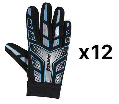 Franklin Sports Youth-Junior Receiver-Receiving Football Gloves-Large (12-Pack)