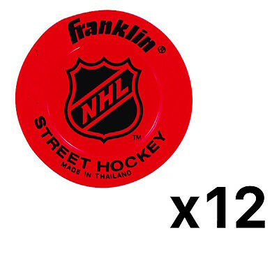 Franklin Sports NHL Low Density Street Hockey Puck - Colors May Vary (12-Pack)