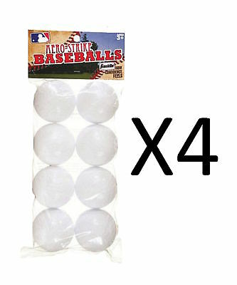 Franklin Sports Practice Balls Aero-Strike Solid Plastic Baseball 8-Pc (4-Pack)