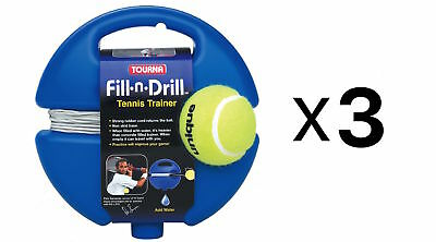 Tourna Fill n Drill Trainer Youth Tennis Practice Kids Aid Youth Tool (3-Pack)