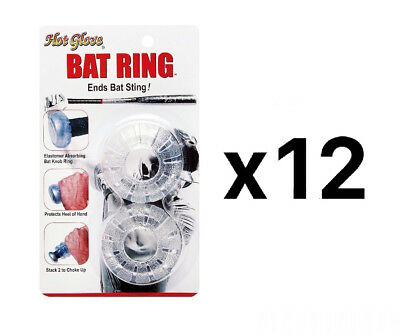 Unique Sports Shock Absorbing Bat Ring  Baseball Softball Power Pad (12-Pack)