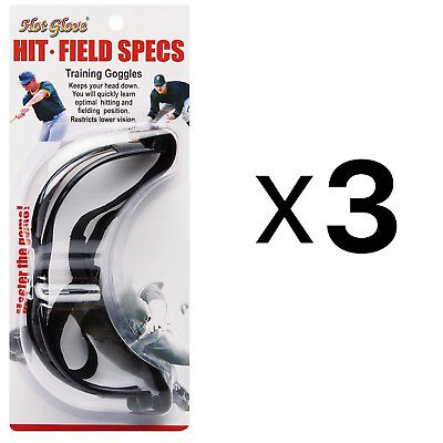 Unique Hit N Field Training Goggles Baseball Softball Specs HFS-1 (3-Pack)