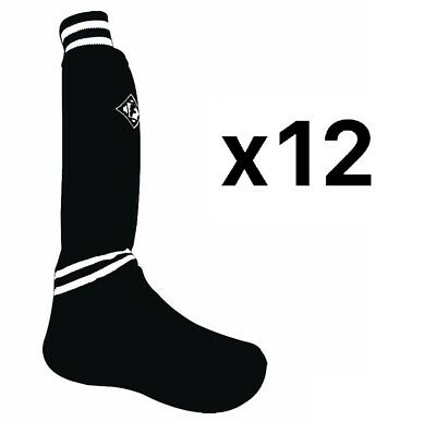 Franklin Sports Sock'R® Shin Guard Black and White Design - Size Large (12 Pack)