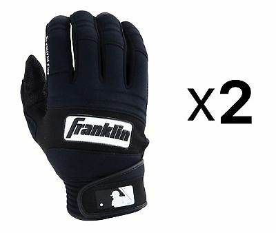Franklin Sports MLB Cold Weather Pro Batting Gloves XL Insulated (2-Pack)