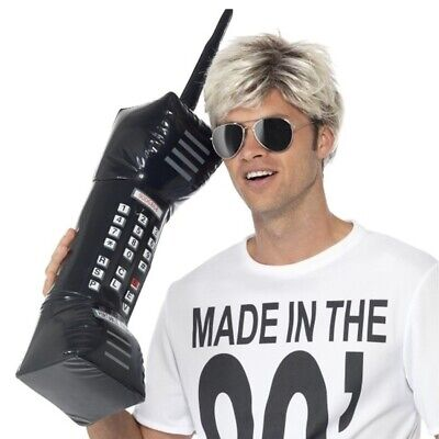 Inflatable Brick Cell Phone Retro Mobile Costume Prop Accessory 80's Zack Morris