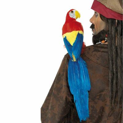 "Parrot With Elastic Strap Pirate Macaw 20"" Bird Costume Shoulder Prop"