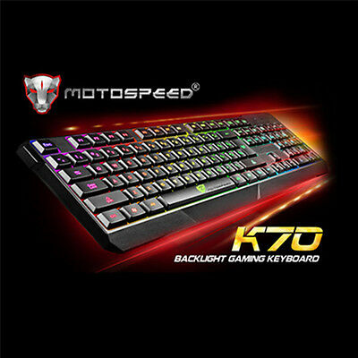 MotoSpeed K70 USB LOL Gaming Keyboard with RGB Backlight for Macbook Laptop PC
