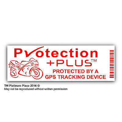 Motorbike Security Stickers-GPS Tracker Device-Motorcycle Warning Tracking-Signs
