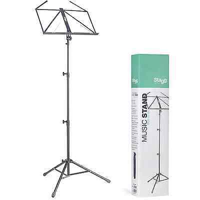 Stagg MUS-A4BK 3-Section Lyra Collapsible Music Stand