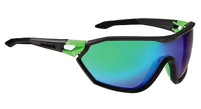 Alpina S-Way CM Sportbrille Sonnenbrille, coal matt-green
