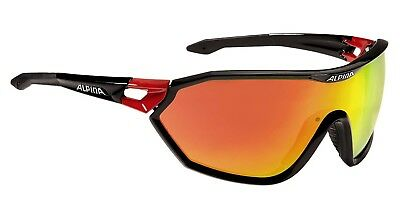 Alpina S-Way CM Sportbrille Sonnenbrille, black-red