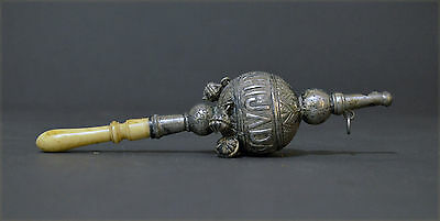 Collectable Solid Silver Spanish Rattle Goddaughter Teether Whistle