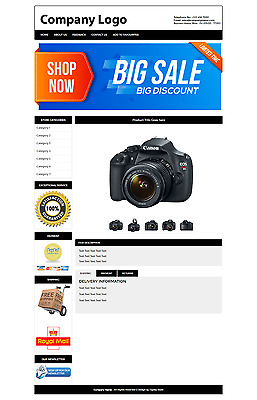 eBay Listing Template Auction HTML Professional Mobile Responsive Design Custom