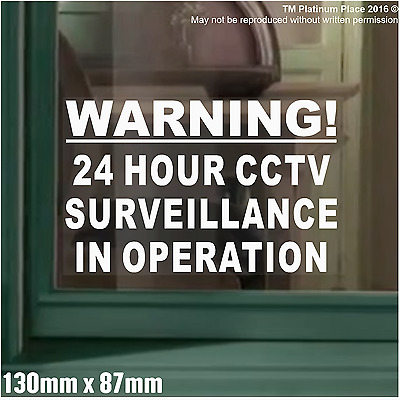 Warning 24 Hour CCTV Surveillance In Operation Security Stickers Signs,Alarm