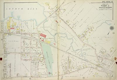 1917 Staten Island, Ny, Richmond Valley, Bethel Cemetery, Ps 2 Plat Atlas Map