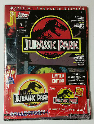 Jurassic Park Collector's Pack Comes with 1 Comic 1 Magazine and 1 Pack of Cards