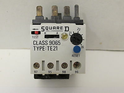 Square D Thermal Overload Relay 9065-TE21