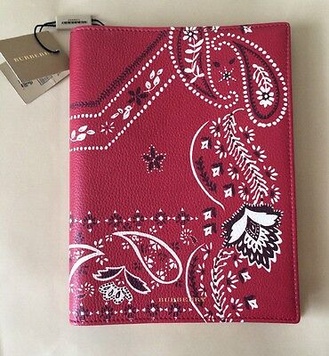 Burberry Prorsum Book Cover-Print Leather Covered A5 Notbook Bnwt