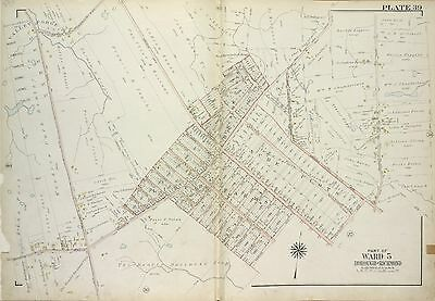 1917 Staten Island Ny Arden Heights, Valley Forge Rossville, Copy Plat Atlas Map