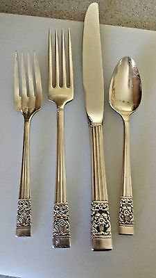 Oneida Community CORONATION Silverplate Flatware 1 - 4 Piece Place Set
