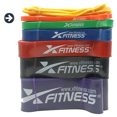xFitness Pull Up Assist Resistance Stretch Band | #2 Orange 20-35 lbs Resistance