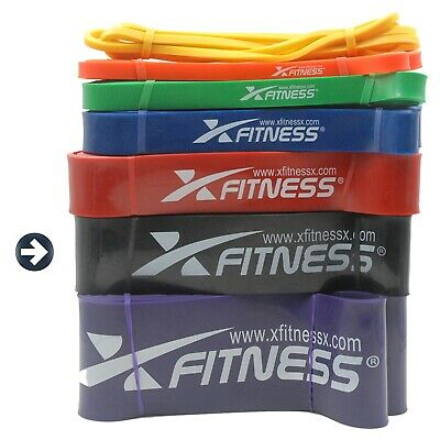 xFitness Pull Up Assist Resistance Stretch Band | #6 Black 60-150 lbs Resistance
