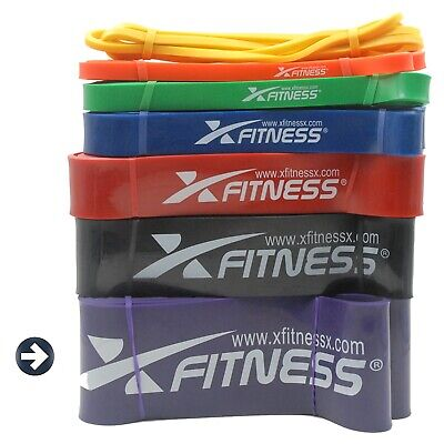 xFitness Pull Up Assist Resistance Stretch Band | #7 Purple 80-200lbs Resistance