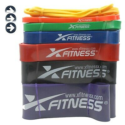 xFitness Pull Up Assist Resistance Stretch Band | Light Set of #1 #2 #3 Bands