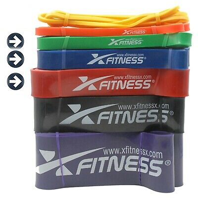 xFitness Pull Up Assist Resistance Stretch Band | Medium Set of #3 #4 #5 Bands