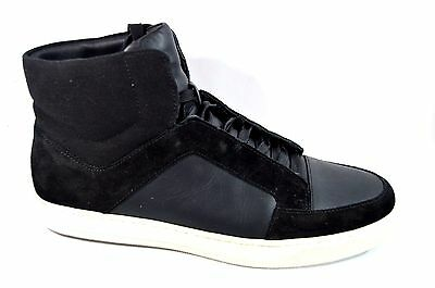VINCE Men's Black Leather/Suede Pony High Top Sneakers US 9 M