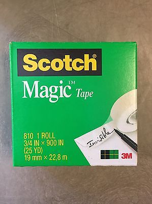 "New 20 Rolls Scotch #810 Magic Tape 3/4"" X 900"" (25 Yd) 1"" Core"