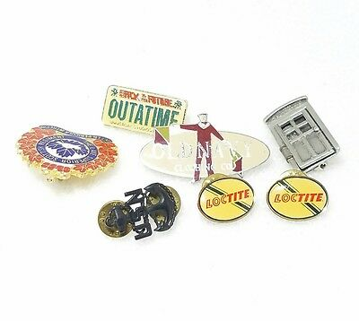 Lot of 6 Promotional Pins. Some vintage. Back to the future,Nsn,old navy,loctite