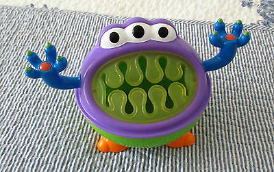 "Nuby Toddler Snack Bowl. ""monster Keeper"".  Preowned."