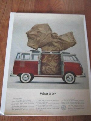 """Vintage 1963 Volkswagen Station Wagon/bus Magazine Advertising """"what Is It?"""""""