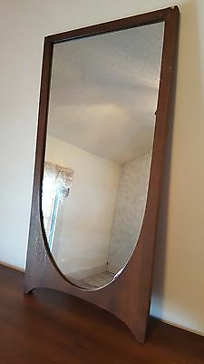 Vtg Broyhill Brasilia Mid Century Danish Modern Original Condition Mirror 2