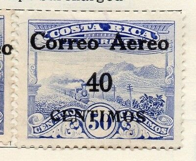 Costa Rica 1930 Issue Fine Mint Hinged 40c. Optd Surcharged 140890