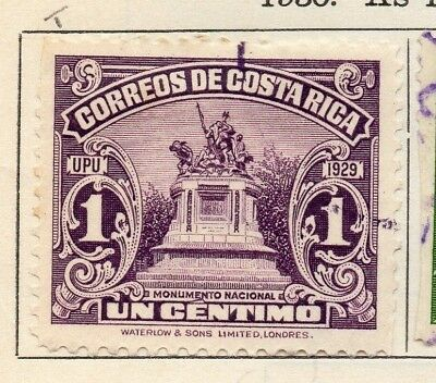 Costa Rica 1930 Issue Fine Used 1c. 140886