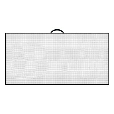 "NEW Devant Sports Waffle Microfiber Golf Towel White / Black 16"" x 32"""