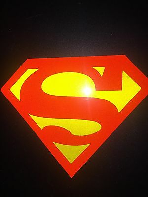 Superman Style *REFLECTIVE VINYL* Graphic Decal