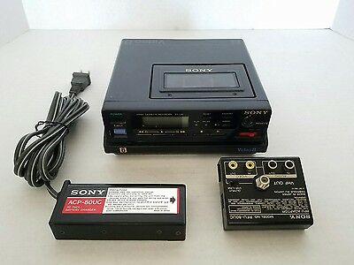 SONY, 8mm VIDEO CASSETTE RECORDER, EV-C8 u,  EV-C8u Tested & Working w/ RFU-80UC