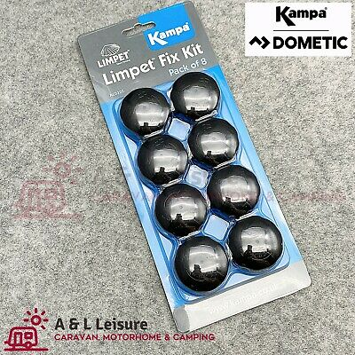 Kampa Awning Limpet System Fix Kit - Pack of Eight Limpets (Genuine Kampa)