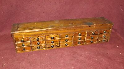 Antique Watch Watchmakers ? Multi Drawer Parts Cabinet Oak or Chestnut
