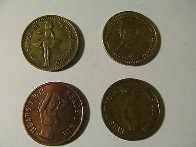 4 Piece Lot Of Novelty Coins