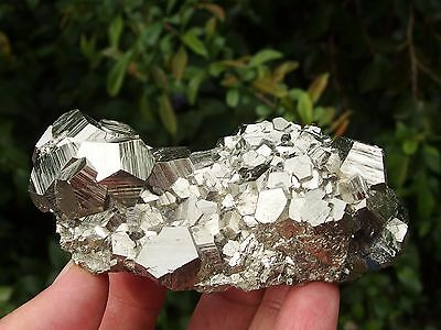Pyrite Crystal Cluster from Quiruvilca mine, Peru. 334 grams.