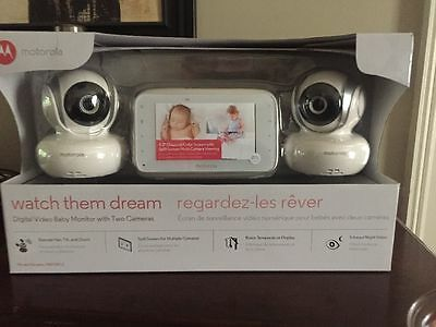Motorola Digital Video Baby Monitor With Two Cameras NEW