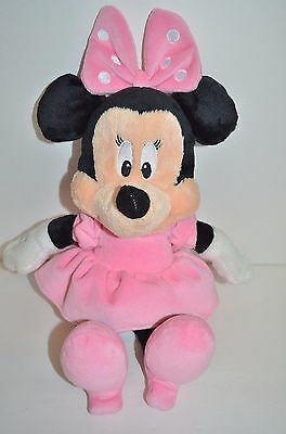 """Kids Preferred Minnei Mouse Plush Rattle Crinkle 12"""" Soft Baby Toy"""