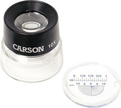 Carson LL-20 LumiLoupe Stand Magnifier 10X With Reticle coins stamps photography