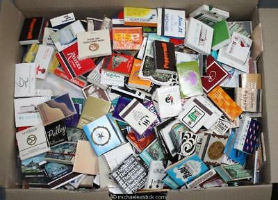 Large box with match boxes, booklets and match labels - many hundreds.