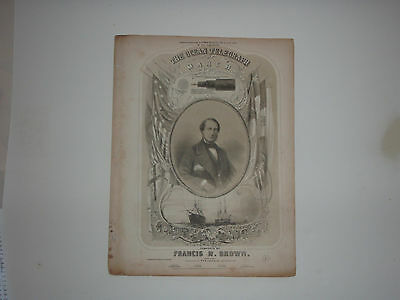 Early American Historic 1858 Dated Printed Sheet Music The Ocean Telegraph